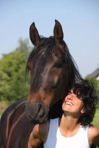bar en paard